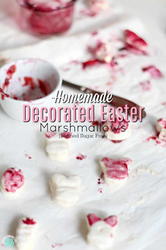 Homemade Decorated Easter Marshmallows – {Refined Sugar Free}