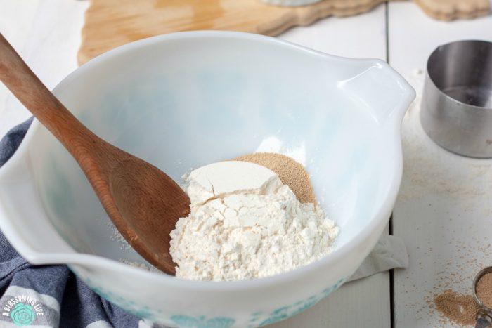 Combine 3 ingredients to make sourdough starter