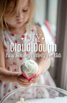 Child Playing With Homemade Cloud Dough