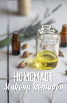 homemade makeup remover in a bottle