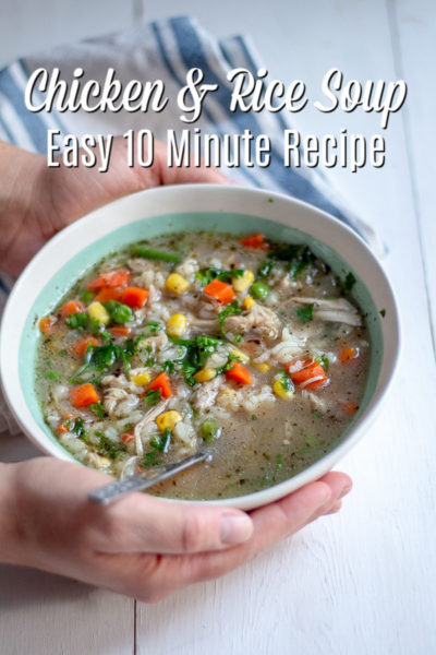 Chicken and Rice Soup: Easy 10 Minute Recipe