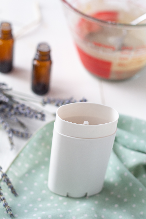 Making homemade natural deodorant