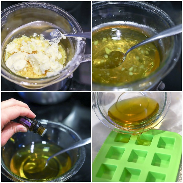 step by step pictures of how to make DIY lotion bars