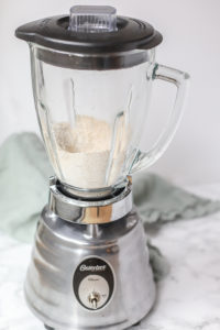 oatmeal ground into oat flour in a blender