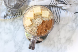 butter, oats, and coconut sugar in a food processor