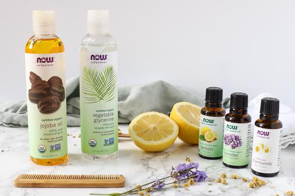 Now essential oils, jojoba oils, and vegetable glycerin