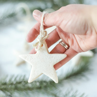 salt dough ornaments in the shape of stars
