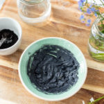 armpit detox made from charcoal and bentonite clay in a teal